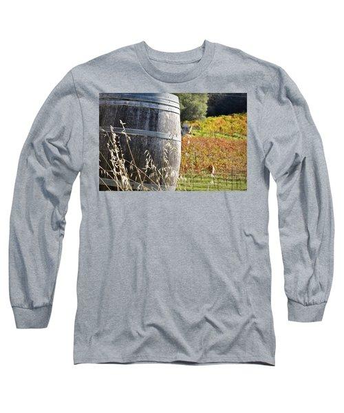 Barrel In The Vineyard Long Sleeve T-Shirt