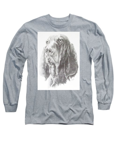 Black And Tan Coonhound Long Sleeve T-Shirt by Barbara Keith