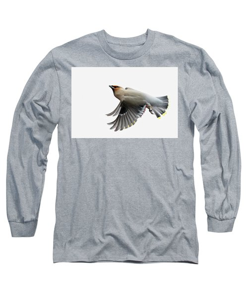 Long Sleeve T-Shirt featuring the photograph Bohemian Waxwing  by Mircea Costina Photography