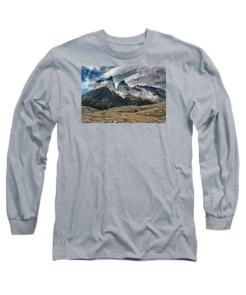 Cuernos Del Paine Long Sleeve T-Shirt by Alan Toepfer