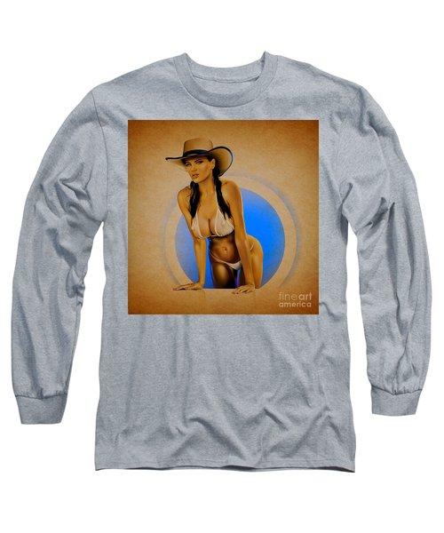 Long Sleeve T-Shirt featuring the digital art Dana by Brian Gibbs