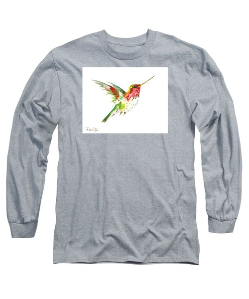 Flying Hummingbird Long Sleeve T-Shirt by Suren Nersisyan