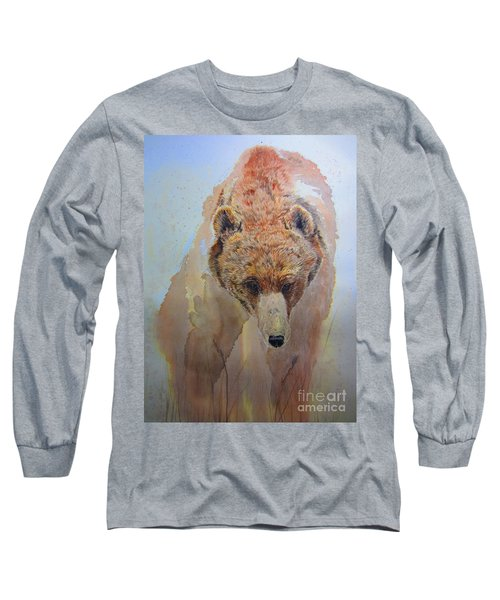 Grizzly Long Sleeve T-Shirt by Laurianna Taylor