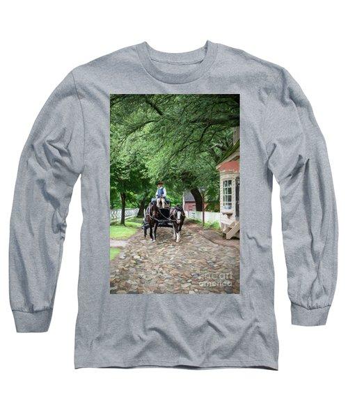 Horse Drawn Wagon Long Sleeve T-Shirt