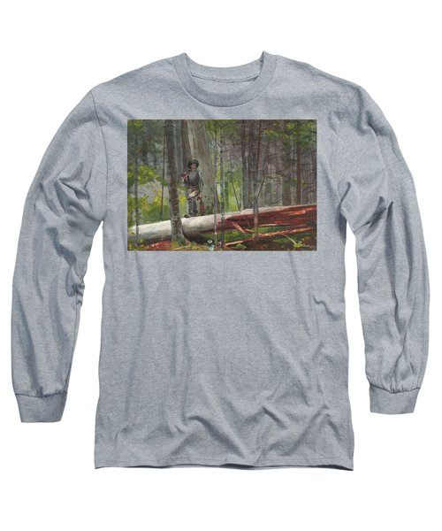 Hunter In The Adirondacks Long Sleeve T-Shirt