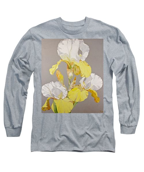 Irises-posthumously Presented Paintings Of Sachi Spohn  Long Sleeve T-Shirt by Cliff Spohn