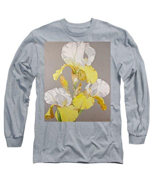 Irises-posthumously Presented Paintings Of Sachi Spohn  Long Sleeve T-Shirt