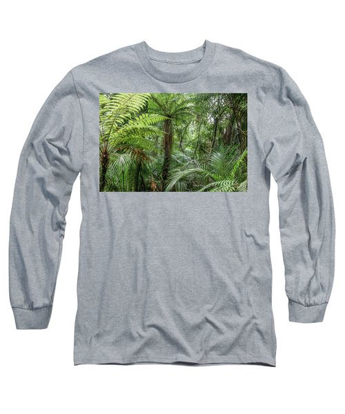 Long Sleeve T-Shirt featuring the photograph Jungle Ferns by Les Cunliffe