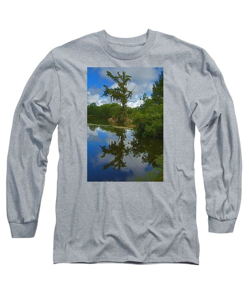 Louisiana  Bald Cypress Tree Long Sleeve T-Shirt by Ronald Olivier