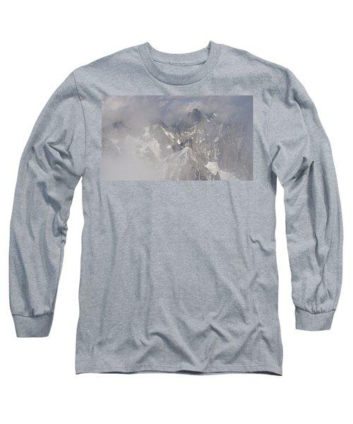 Mist At Aiguille Du Midi Long Sleeve T-Shirt