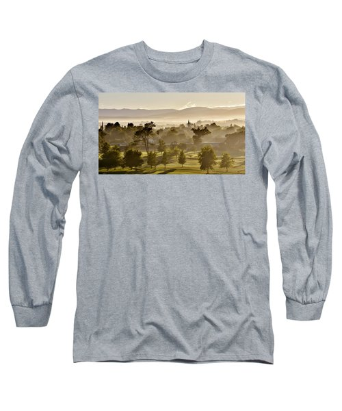 morning fog over Ceres Long Sleeve T-Shirt