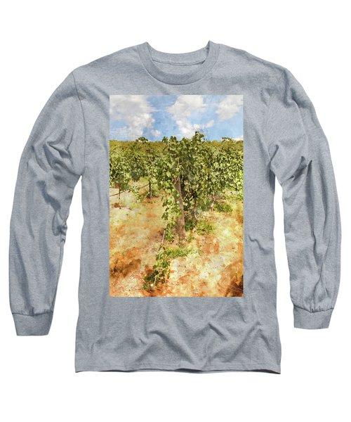 Napa Vineyard In The Spring Long Sleeve T-Shirt