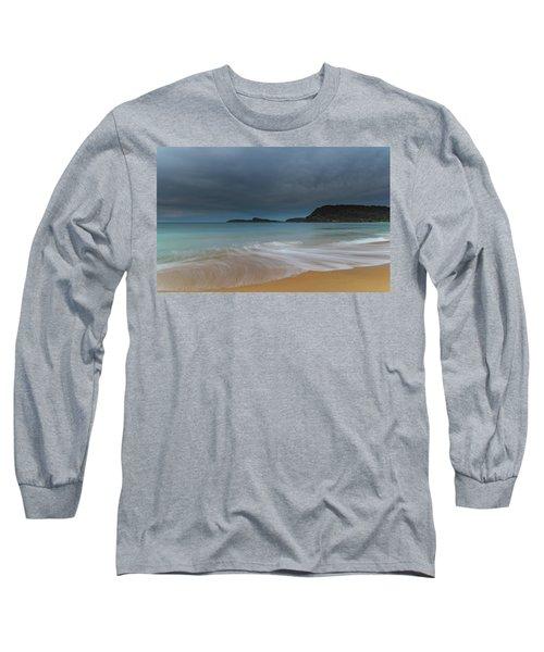Overcast Cloudy Sunrise Seascape Long Sleeve T-Shirt
