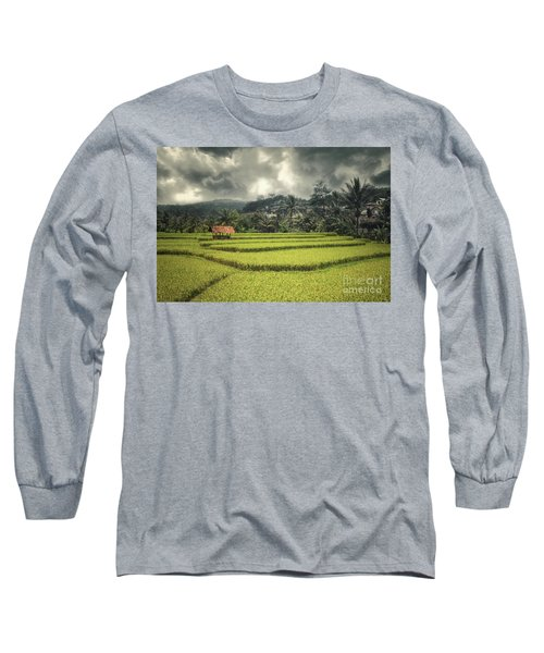 Long Sleeve T-Shirt featuring the photograph Paddy Field by Charuhas Images