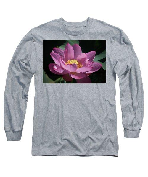 Pink Lotus Blossom Long Sleeve T-Shirt