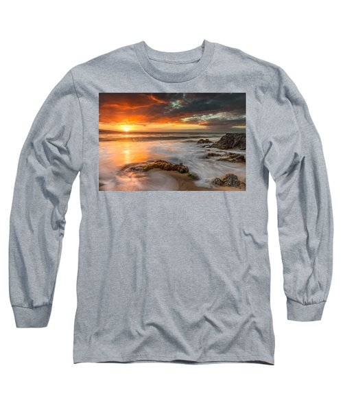 Poolenalena Sunset Long Sleeve T-Shirt by James Roemmling