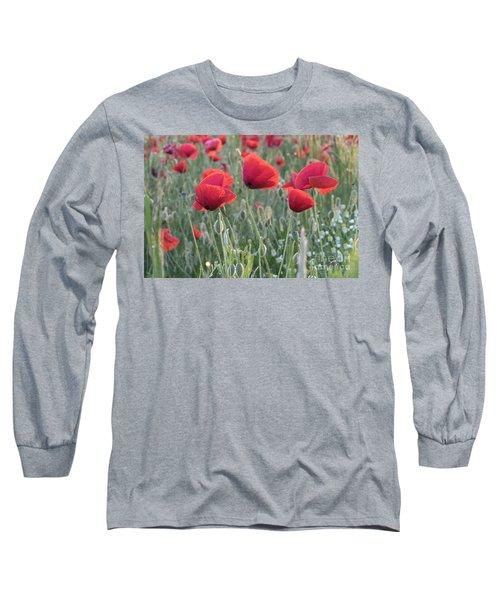Poppy Flowers Long Sleeve T-Shirt