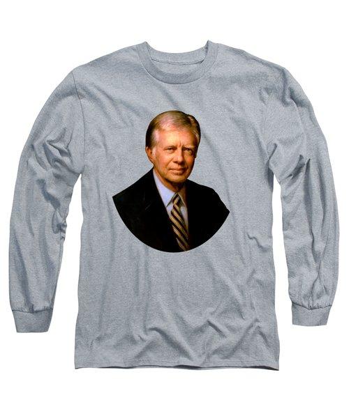 President Jimmy Carter Painting Long Sleeve T-Shirt