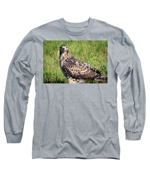 Red-tail Portrait Long Sleeve T-Shirt