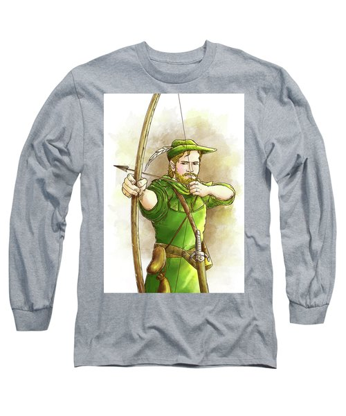 Robin Hood The Legend Long Sleeve T-Shirt by Reynold Jay