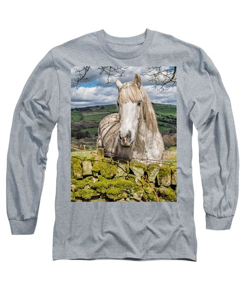 Long Sleeve T-Shirt featuring the photograph Rustic Horse by Nick Bywater