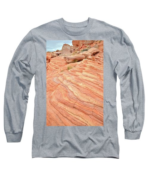 Long Sleeve T-Shirt featuring the photograph Sandstone Swirls In Valley Of Fire by Ray Mathis