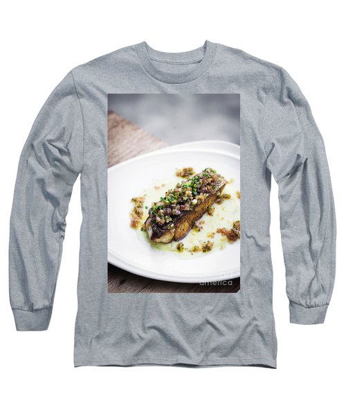 Sea Bass Fish With Mexican Salsa Sauce Long Sleeve T-Shirt