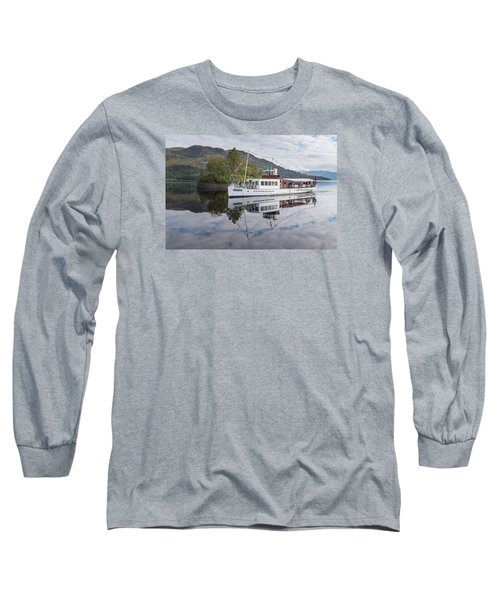 Steamship Sir Walter Scott On Loch Katrine Long Sleeve T-Shirt