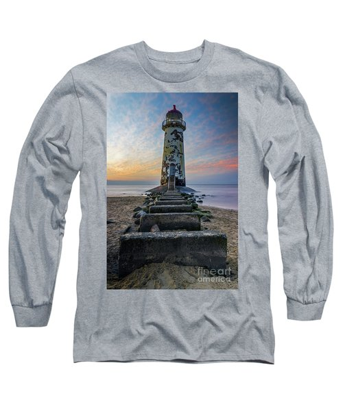 Sunset At The Lighthouse Long Sleeve T-Shirt by Ian Mitchell