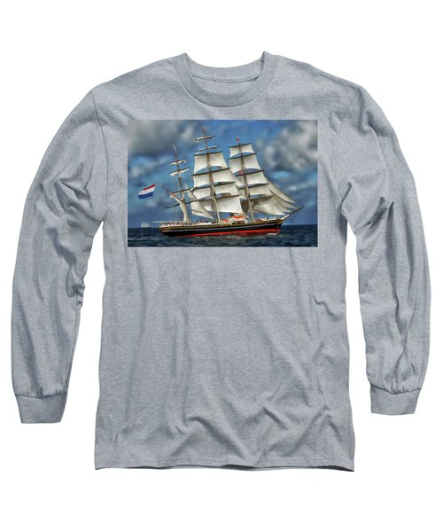 Three Mast Schooner Long Sleeve T-Shirt
