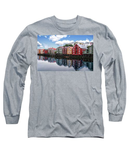 Trondheim Coastal View Long Sleeve T-Shirt