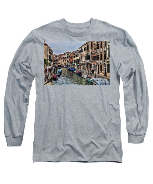 Long Sleeve T-Shirt featuring the photograph Venice by Shirley Mangini