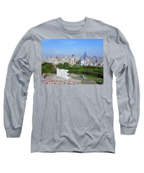 View Of Kaohsiung City Long Sleeve T-Shirt by Yali Shi