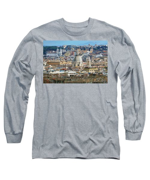View Of Rome Italy From Atop Gianicolo Hill Long Sleeve T-Shirt
