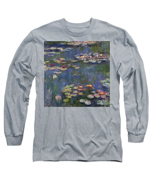 Water Lilies, 1916 Long Sleeve T-Shirt