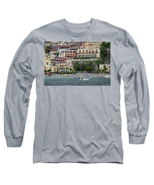 Water Taxi From Amalfi To Positano Long Sleeve T-Shirt
