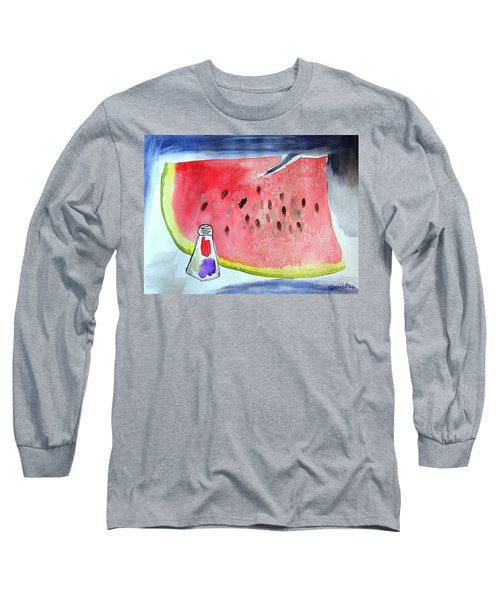 Watermelon Long Sleeve T-Shirt by Jamie Frier