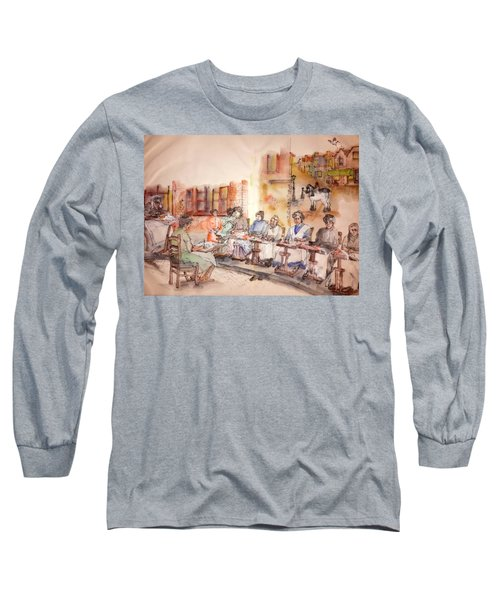 Long Sleeve T-Shirt featuring the painting Of Clogs And Windmills Album by Debbi Saccomanno Chan