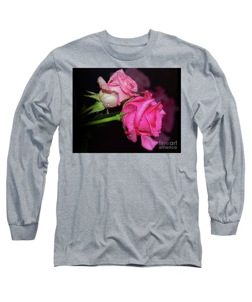 Two Roses Long Sleeve T-Shirt by Elvira Ladocki