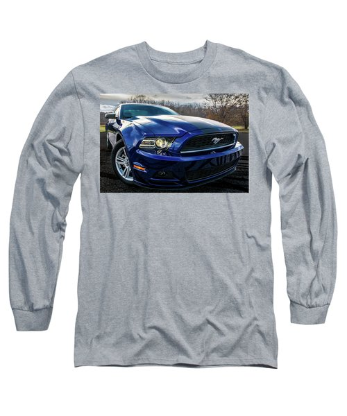 Long Sleeve T-Shirt featuring the photograph 2014 Ford Mustang by Randy Scherkenbach