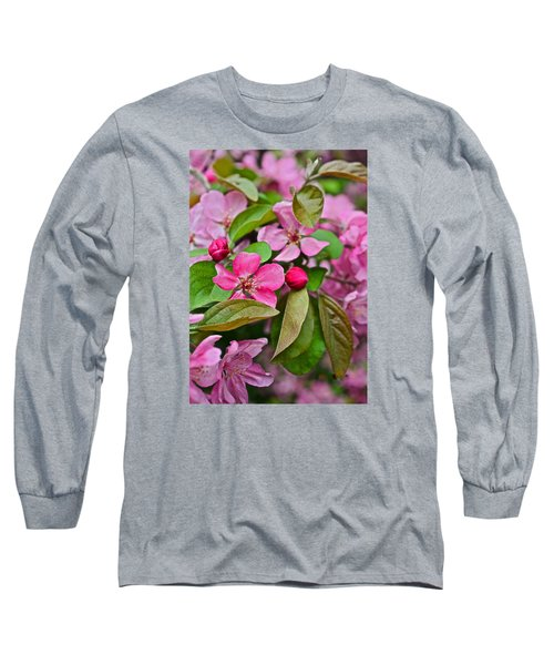 2015 Spring At The Gardens Pink Crabapple Blossoms 2 Long Sleeve T-Shirt