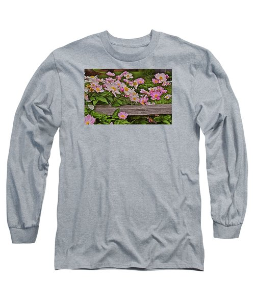 2015 Summer's Eve Front Yard Peonies 1 Long Sleeve T-Shirt