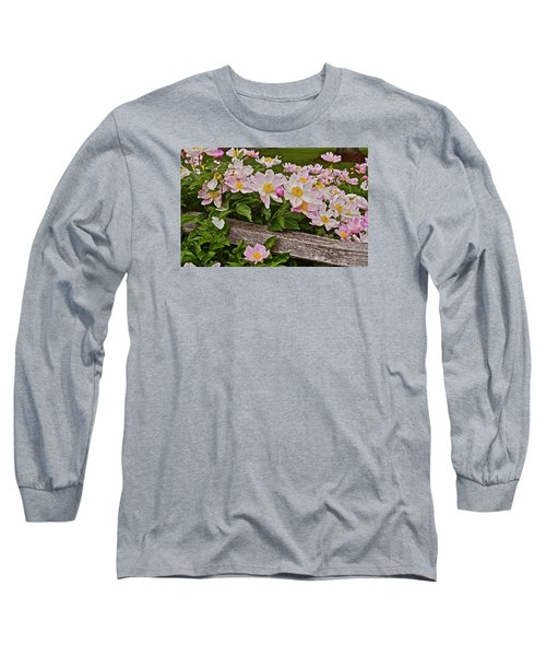 2015 Summer's Eve Neighborhood Garden Front Yard Peonies 3 Long Sleeve T-Shirt