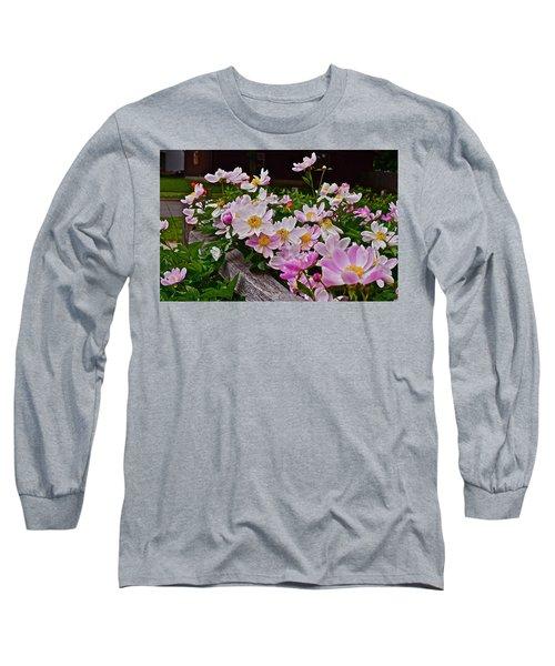 2015 Summer's Eve Neighborhood Garden Front Yard Peonies 4 Long Sleeve T-Shirt