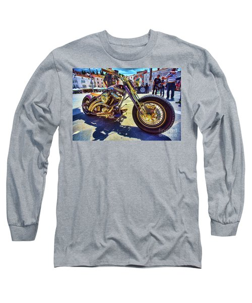 2016 Custom Harley Winner Long Sleeve T-Shirt by Graham Hawcroft pixsellpix