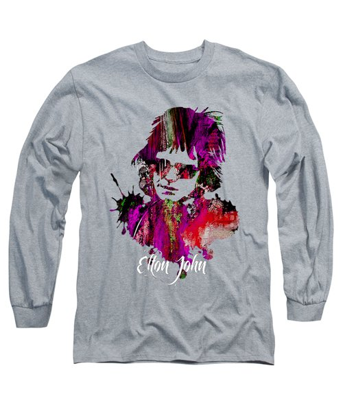 Elton John Collection Long Sleeve T-Shirt by Marvin Blaine