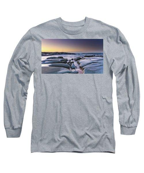 Sunrise Seascape And Rock Platform Long Sleeve T-Shirt