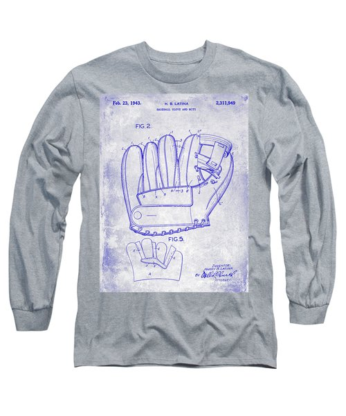 1943 Baseball Glove Patent Long Sleeve T-Shirt