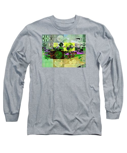 Abstract Painting - Black Bean Long Sleeve T-Shirt