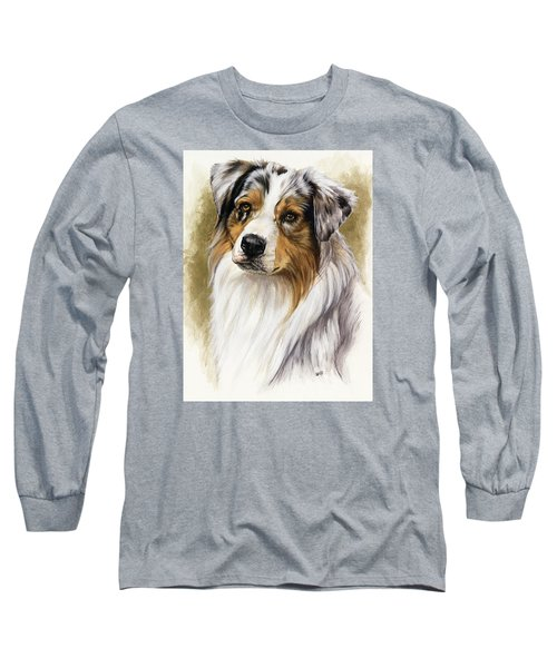 Australian Shepherd Long Sleeve T-Shirt by Barbara Keith